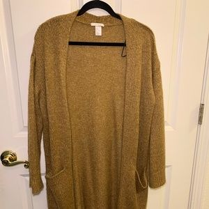 Camel colored duster cardigan